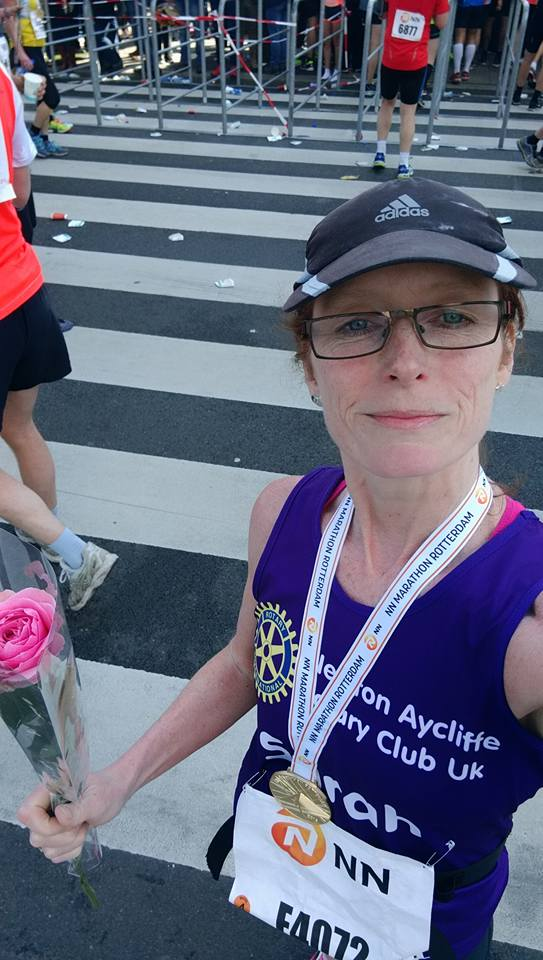 Sarah Rotterdam Marathon