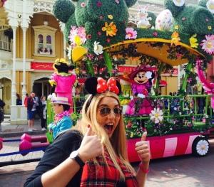Anna at Disneyland- her heaven!